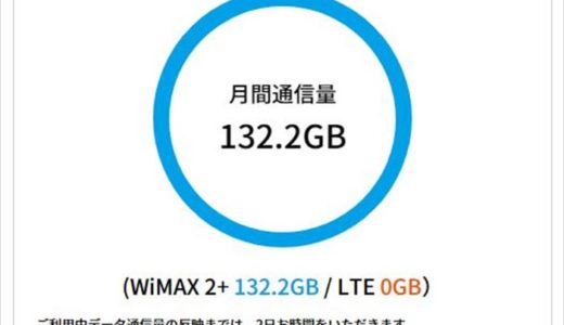 WiMAXの通信量4月